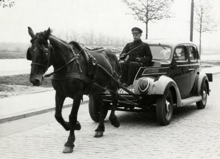 Door paard getrokken taxi
